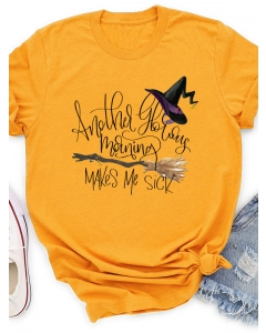 Dresswel Women Another Glorious Morning Makes Me Sick Graphic Halloween T-Shirts