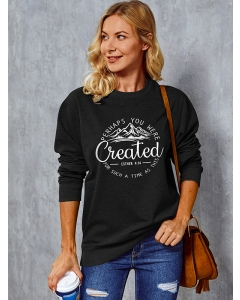 Dresswel Women Perhaps You Were Created for Such A Time as This Sweatshirts Tops