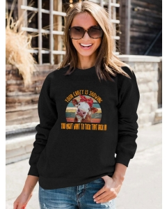 Dresswel Women Your Crazy Is Showing You Might Want To Tuck That Back In Printed Sweatshirts Tops