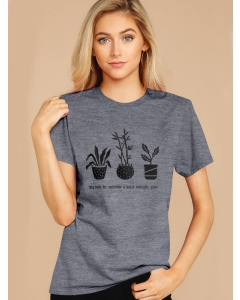 Dresswel Women Lets Root For Each Other Watch Each Other Grow Print T-shirt Tops