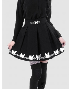 Dresswel Women Fashion Black Mysterious Occult Witchcraft Icon Gothic Mini Skirt