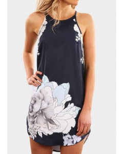 Dresswel Floral Sleeveless Mini Dress