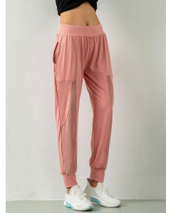 Dresswel Women Casual Sporty Ankle-length Solid Color Beam Foot Sweatpants Bottoms
