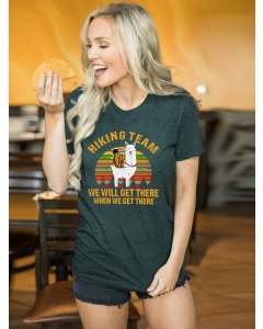 Dresswel Women Hiking Team We Will Get There When We Get There T-shirt Tops
