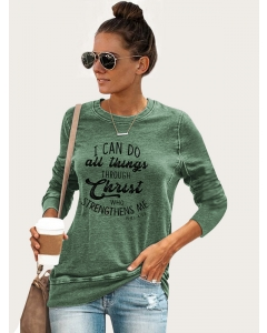 Dresswel Women I Can Do All Things Through Christ Who Strengthens Me Tee Top