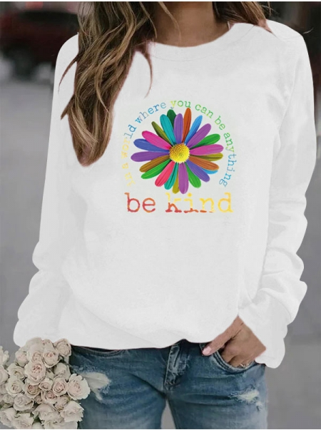 Dresswel Women In A World Where You Can Be Anything Be Kind Sunflower Tees Tops