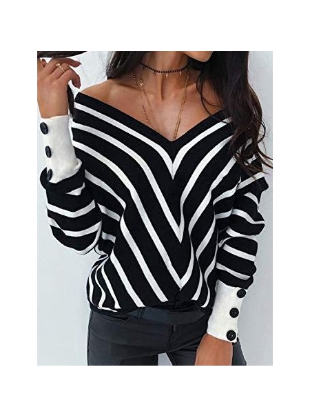 Dresswel Women Vintage Long Sleeve Shirts & Tops