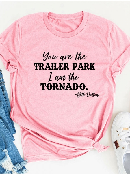 Dresswel Women You Are The Trailer Park I Am The Tornado Round Neck Tee Top